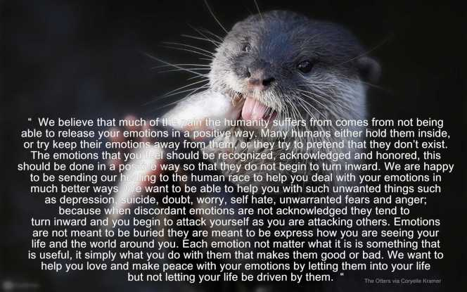 the otters speak emotions